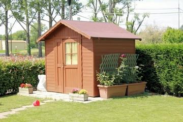 Garden house in a corner of the garden