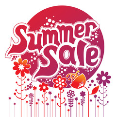 Summer sale. Concept vector illustration.