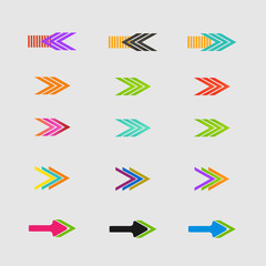 Arrow sign icon set. Vector design eps10