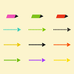 Set of vector arrows eps10