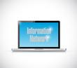 laptop information network sign illustration