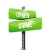 cyber crime sign illustration design