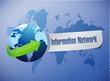 information network globe sign illustration
