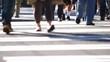 City Pedestrian Traffic Foot-Traffic Sequence