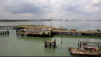 View of Southampton Dockside