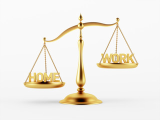 Home and Work Justice Scale Concept