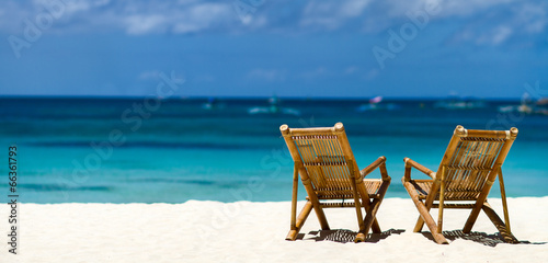 Idyllic tropical beach - 66361793