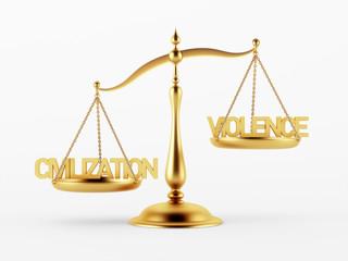 Civilization and Violence Justice Scale Concept