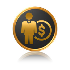 Money symbol - Businessman and dollar
