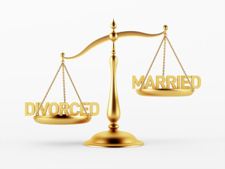 Divorced and Married Justice Scale Concept