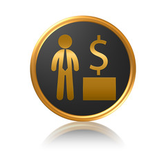 Money symbol - Businessman with dollars