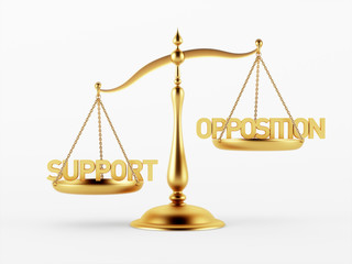Support and Opposition Justice Scale Concept