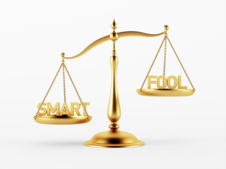 Smart and Fool Justice Scale Concept