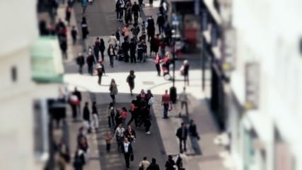 City Pedestrian Traffic Brussels Tilt Shift