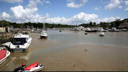 Boats on river Wootton Bridge Isle of Wight