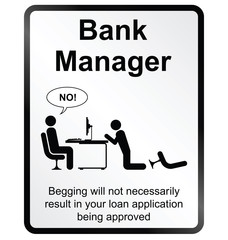 Bank Manager Information Sign