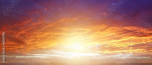 Aluminium Zonsondergang Bright sky
