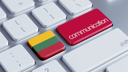 Lithuania  Communication Concept.