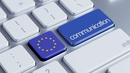 European Union  Communication Concept.
