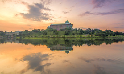 Sunrise at Putrajaya Government Administration Office