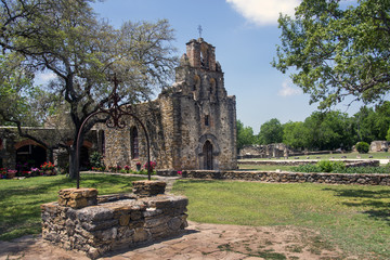 Mission Espada in the San Juan Mission National Park, Texas