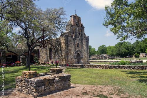 Foto op Plexiglas Texas Mission Espada in the San Juan Mission National Park, Texas