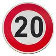 vitesse limitée à 20 km/h