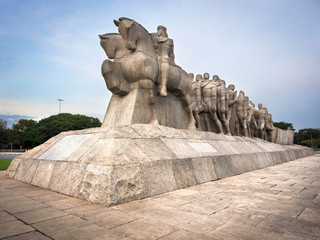 The Bandeiras Monument at Ibirapuera Park, Sao Paulo, Brazil