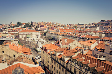 Traditional old buildings in Lisbon, Portugal, Europe