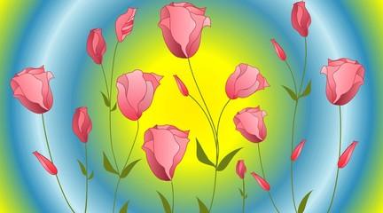 tło z różami,