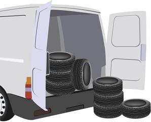 trasporto pneumatici