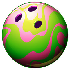 A bowling ball