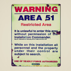 Retro look Warning sign