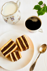 Apricot cakes with  coffee