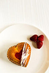 Heart-shaped mini cake