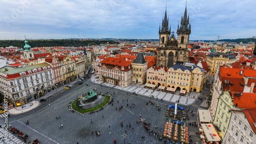 Staande foto Praag City Pedestrian Traffic Time Lapse Prague