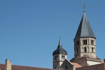 Le clocher restant de l'Abbaye de Cluny