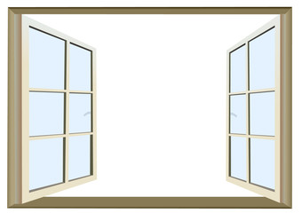 Vector format of opened window with empty space for custom text