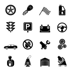 Silhouette Car and transportation icons