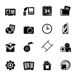 Silhouette Mobile phone menu icons