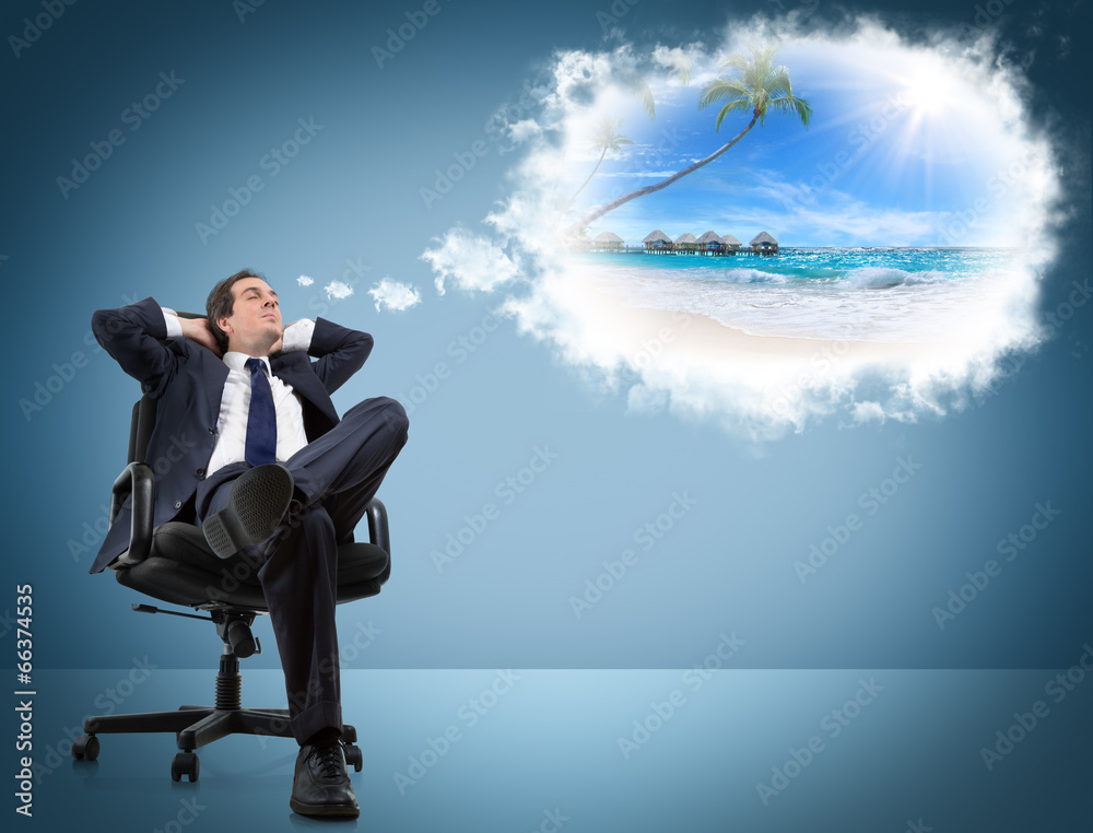 dreaming mężczyzna podróż - powiększenie