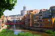 picturesque view of Girona with river in sunny day
