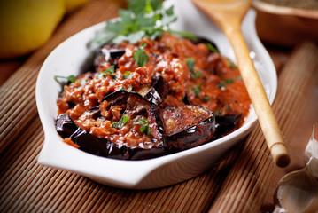 melanzane grigliate alle spezie, tradizionale ricetta marocchina