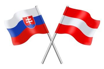Flags : Slovakia and Austria