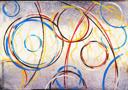 Obraz na Szkle An Abstract Painting - Ringer #3