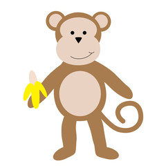 Monkey Holding Banana