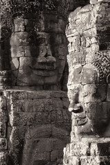 Buddha heads at the Bayon Temple