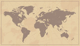 Old Vintage World Map poster