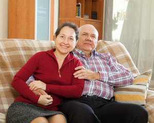 mature woman with smiling husband