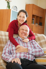 mature couple in home